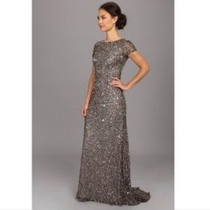 Adrianna Papell scoop back sequin dress